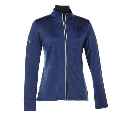 Women's Waffle Fleece Full Zip Jacket