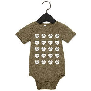 Infant's Hearts and Cows Onesie