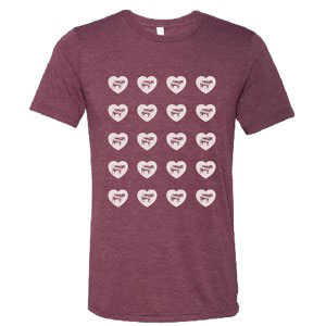 Women's Hearts and Cows T-shirt