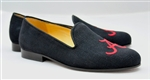Men's ALABAMA Black Linen Shoe - Men's 11