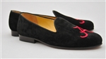Mens ALABAMA Black Suede Shoe