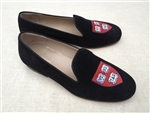 "Men's HARVARD Black Suede Shoe ""Veritas Shield"""