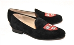 "Men's HARVARD Black Velvet Shoe ""Veritas Shield"""