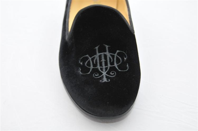 Velvet Slippers Mens Black Velvet Slippers Smoking
