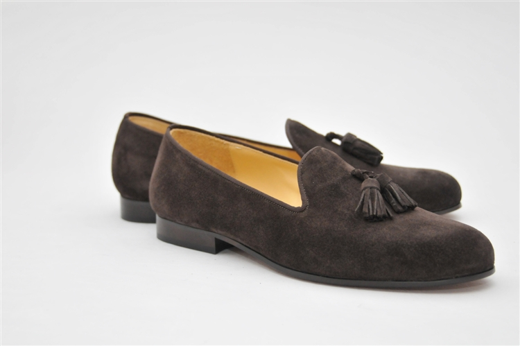 f84b3704b36 Men s JPC Tassel Brown Suede Shoe · Larger Photo ...