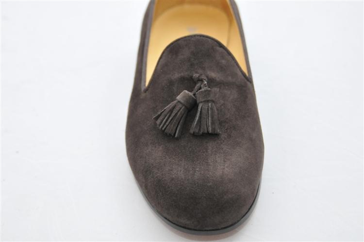 Men S Jpc Tassel Brown Suede Shoe