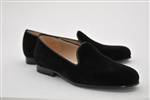 Men's JPC Plain Black Velvet Shoe