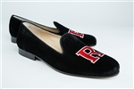 Men's Rutgers University Black Suede Shoe