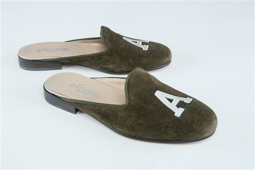 Women's ARMY Olive Suede Mule