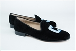 "Women's COLUMBIA University ""C"" Black Suede Loafer"