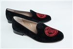 Women's Cornell University Black Suede (Crest) Loafer