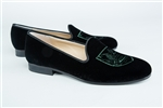Women's Dartmouth Black Velvet Crest Shoe