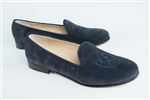 "Women's EMORY University ""Shield"" Blue Suede Loafer"