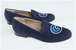"Women's GEORGETOWN Blue Linen Loafer ""G"""