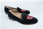 "Women's HARVARD ""Veritas Shield"" Black Suede Loafer"