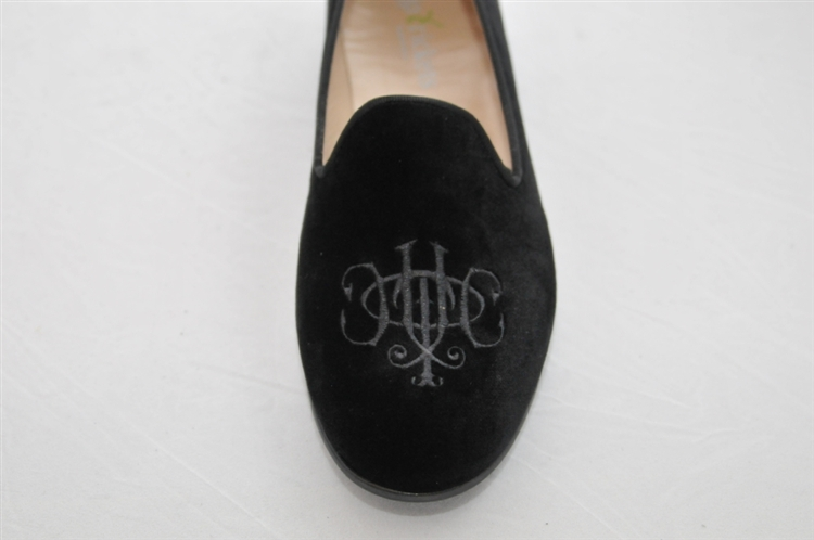 becdcf8c720 Women s Jpcrickets Monogram Black Velvet Loafer slipper shoe