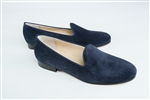 Women's JPB Plain Blue Suede Loafer