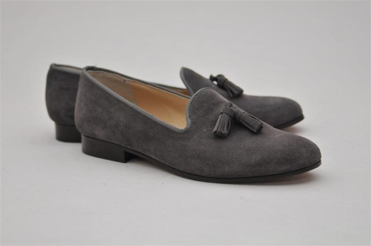 Women's JPC Tassel Grey Suede Loafer