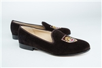 "Women's Lehigh University Brown Suede Loafer ""Crest"""