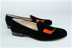 Women's University of Miami Black Suede Full Loafer