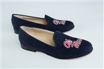 "Women's University of Mississippi Blue Linen Loafer ""Ole Miss"""