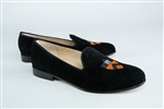 Women's Princeton University Shield Black Suede Loafer
