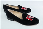 Women's Rutgers University Black Suede Loafer