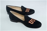 Women's University of Southern California (USC) Black Linen Loafer