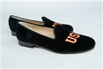 Women's University of Southern California (USC) Black Suede Loafer
