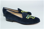 Women's TRINITY COLLEGE Blue Suede Loafer