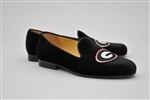Women's UNIVERSITY of GEORGIA Black Suede Loafer