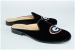 Women's University of GEORGIA Black Velvet Mule