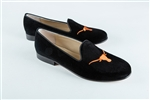 Women's University of Texas Black Suede Loafer