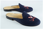 Women's VIRGINIA Blue Linen Mule