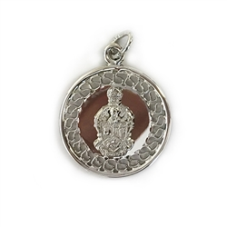 Silver Filigree Charm with Coat of Arms