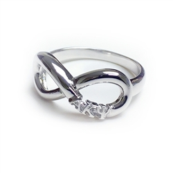 Ladies Sterling Silver Infinity Ring
