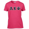 Hot Pink Block-Letter T-Shirt