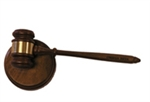Engraved Gavel and Block