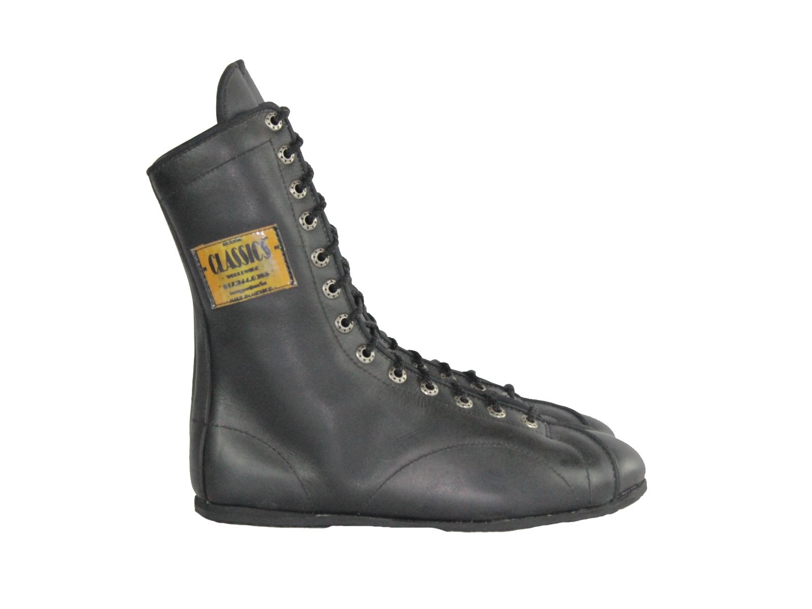 One-Color Leather Boxing Shoes