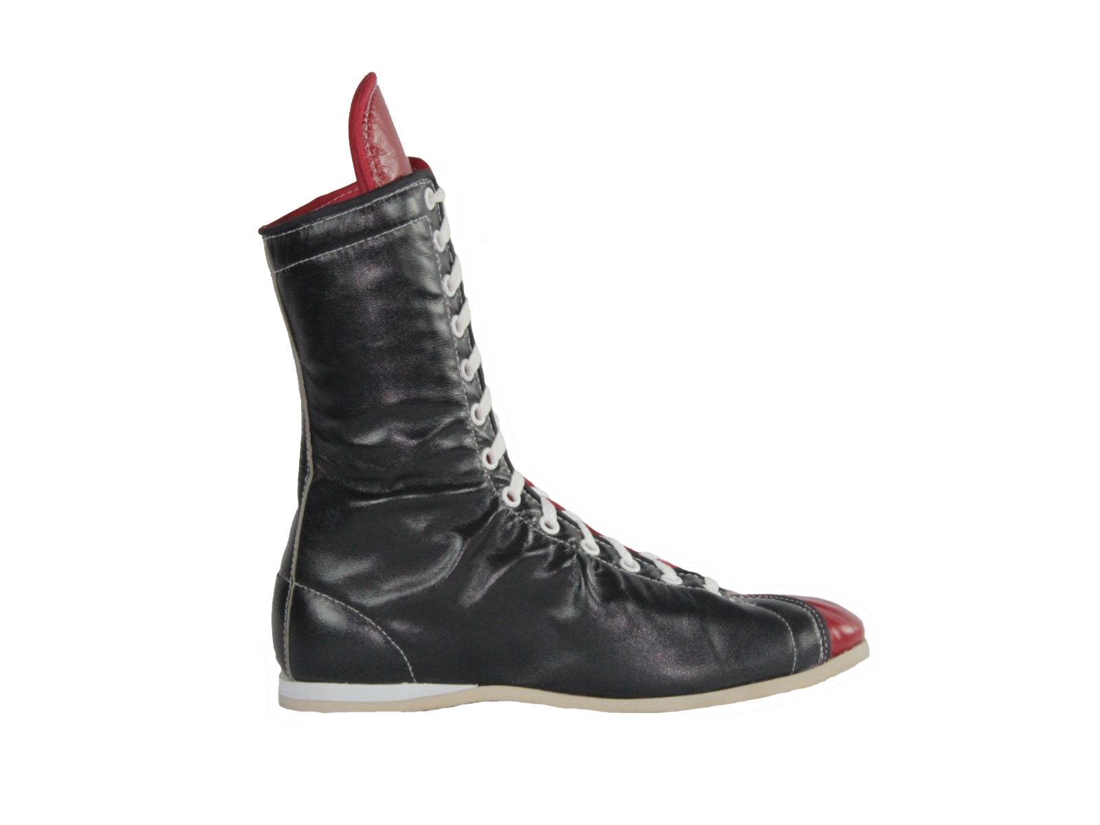Two-Color Leather Boxing Shoes
