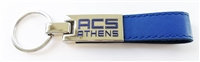 G10_Key Chain with Leather and printed ACS Athens Logo
