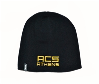 H01_Navy Blue Winter Knit Hat with ACS Athens Logo