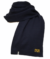 H05_Navy Blue Scarf with ACS Athens Logo