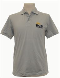 P03_Short Sleeve Polo Shirt - ACS Athens with Lancer Logo