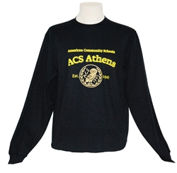 S03_Navy blue Sweatshirt with  ACS Athens_owl logo