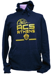 S06_Navy Blue Hooded Sweatshirt with ACS Athens Lancer Logo