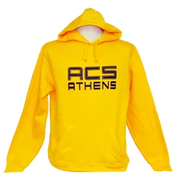 S07_Yellow Hooded Sweatshirt with Large ACS Athens Logo
