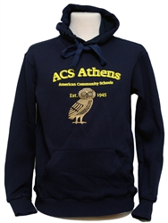 S15_Hooded Sweatshirt with Small ACS Athens Logo