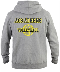SA02_Hooded Sweatshirt with Small Lancer Logo on Front & Large ACS Athens Volleyball Logo on Back