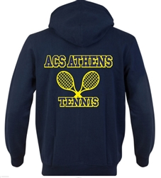 SA05_Hooded Sweatshirt with Small Lancer Logo on Front & Large ACS Athens Tennis Logo on Back